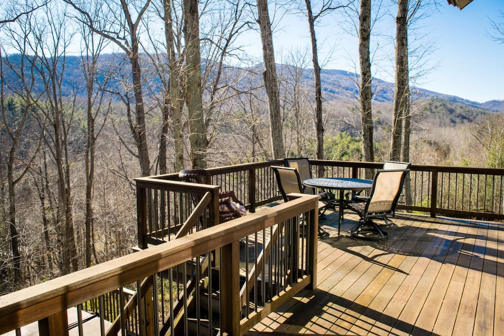 Deck and Mountain Views