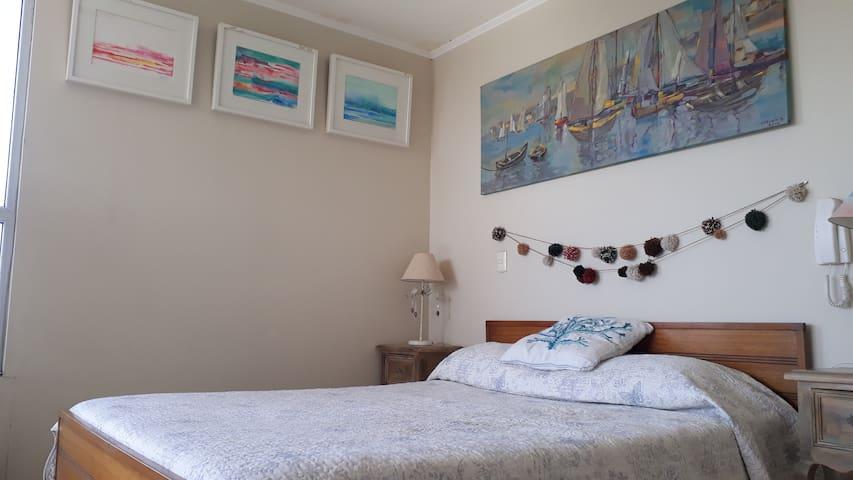 Habitación privada con vista a Bahía de Coquimbo