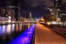 Night walk river side.1mins