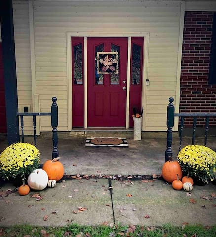 Inside and out, we're always decorated for the season to make you feel right at home!