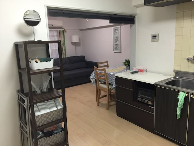 2mins to stn,30m sq. big apt, Unlimited WIFI - Nerima-ku - Apartment