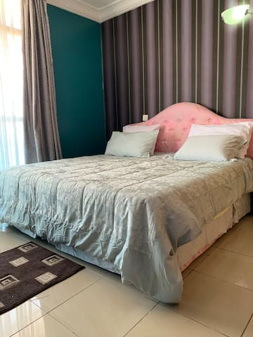 Fully acclimatized 2 bedrooms with a super king size bed each