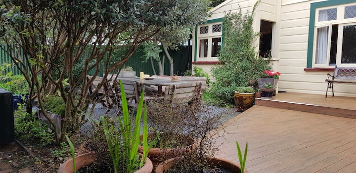 In the heart of vibrant Newtown, private and sunny
