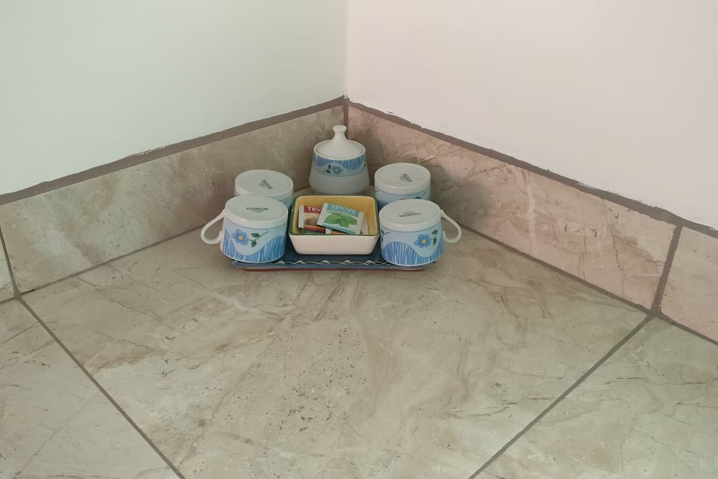 Complimentary tea station