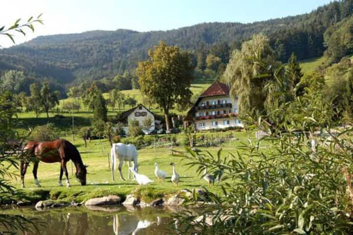 Weisbauernhof, (Simonswald), Ferienwohnung Weideblick 54qm, 2 Schlafräume, max. 5 Personen