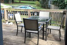 Grill, have dinner, and relax on the back deck