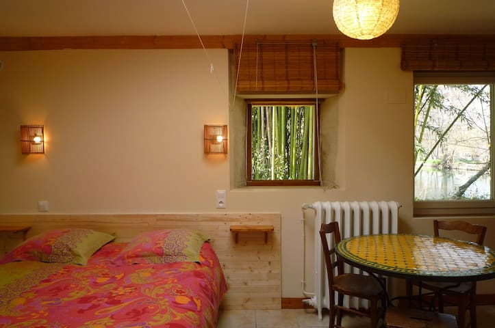 STUDIO dans les bambous 30 m2 /Pl. pied /Terrasse - La Crèche - House