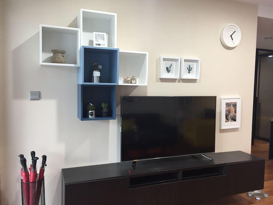 电视墙——配55寸智能电视