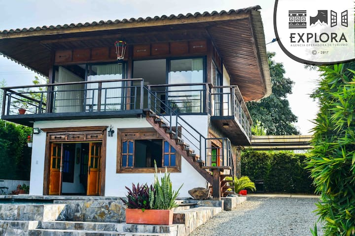 Casa de Campo Yerbabuena, Tebaida, Quindío - La Tebaida - Chatka w górach