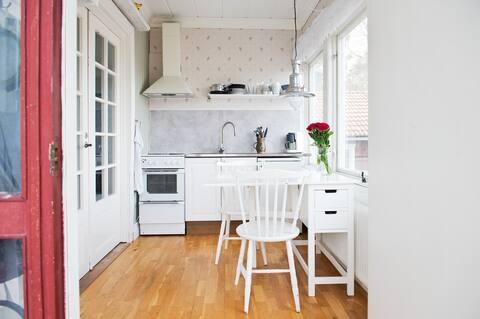 Lägenhet på Näset, ett rum med kök
