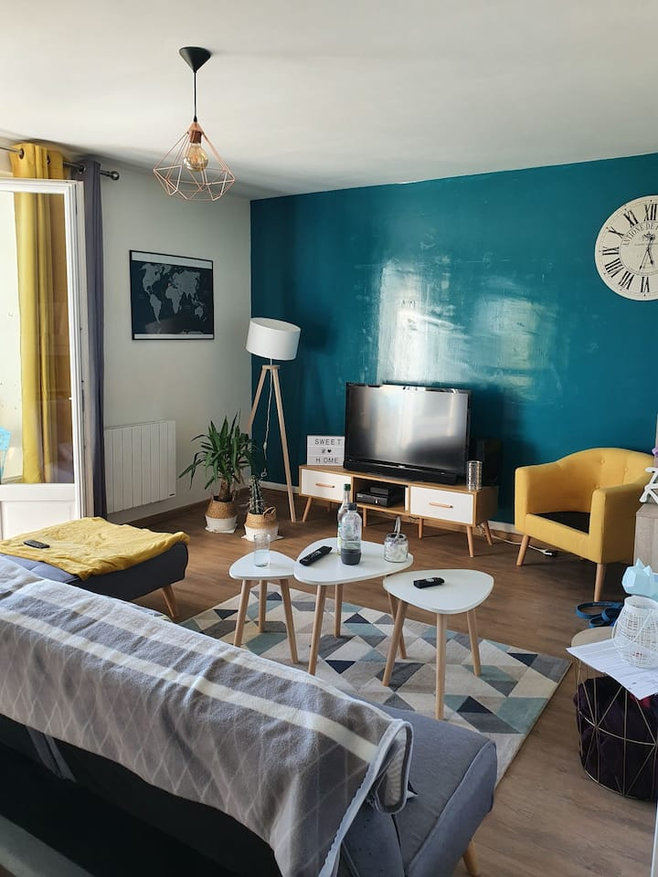 Belle appartement à 2 min du château de Saumur