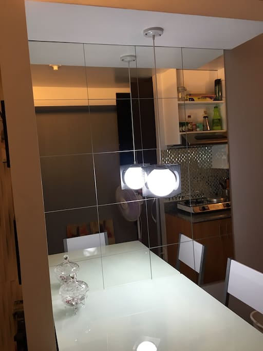 Imported mirror glass. LED light