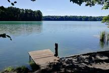 Nur 4Minuten bis zur Badestelle im klaren und sauberen Liepnitzsee - der schönste Badesee im Berliner Umland