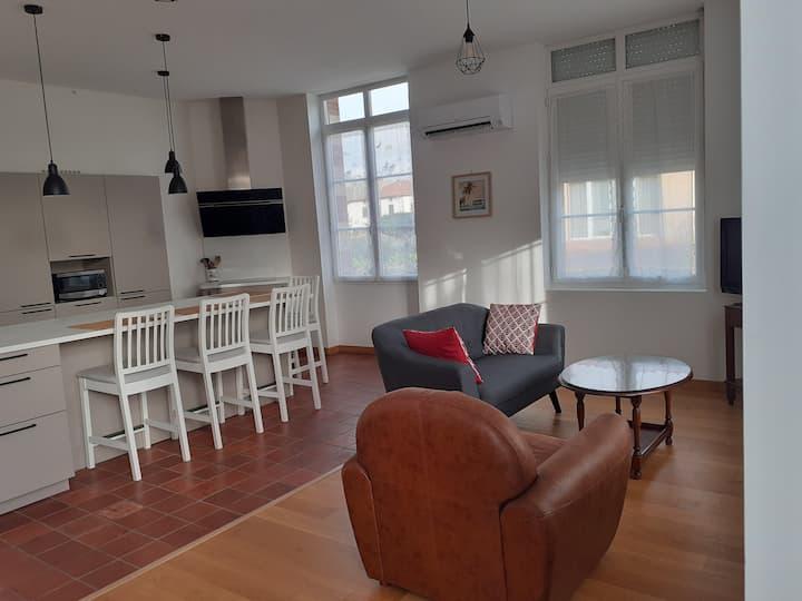 Appartement de 70m2, au centre d'un village calme