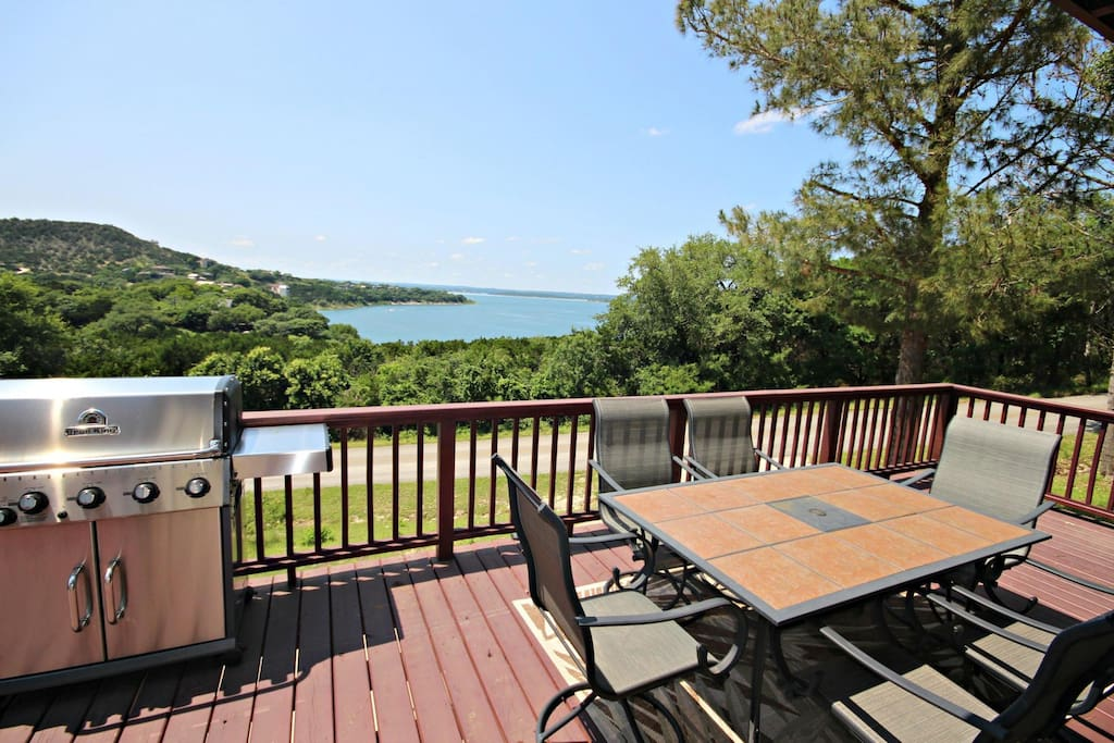 Large Deck with Lake View - Propane Provided for Gas Grill