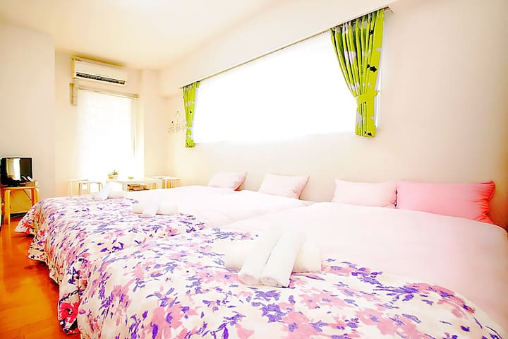 Sweet 4 beds, many amenity, 3 mins to Namba sta - 大阪市 - Wohnung