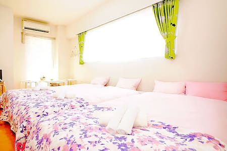 Sweet 4 beds, many amenity, 3 mins to Namba sta - 大阪市 - Huoneisto