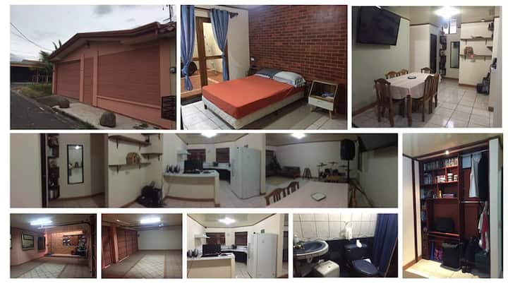 3 room fully furnished 10 min from airport.