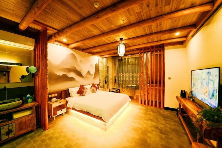 Qing Wu inn | light and luxurious lovers' room