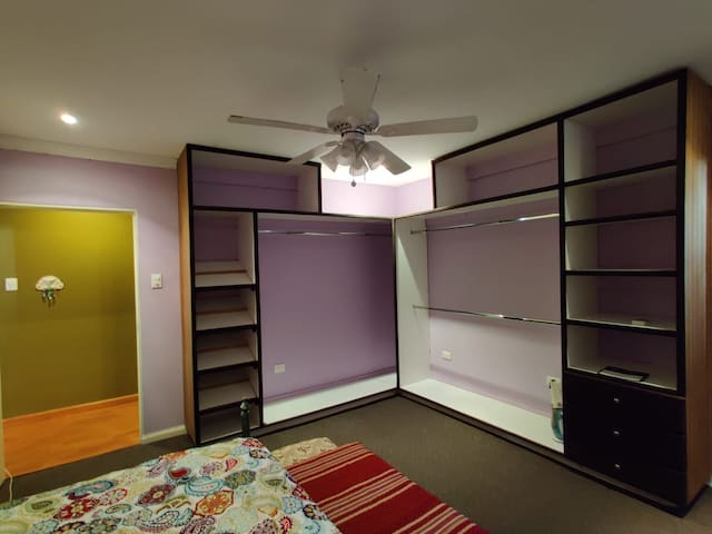 Bedroom 2, shoe rack, merged walk- in closet, loads of space
