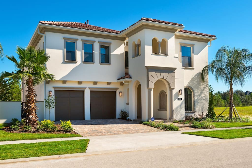 This home has plenty of space for parking with a two-car garage and driveway
