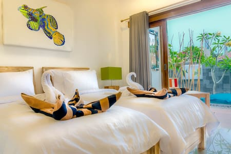 New Pool side Twin Rooms in Blue Marlin Dive ! - Pemenang