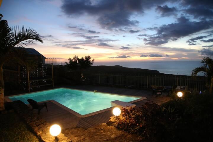 """ Chambre"" -cls- vista Oceano a Plateau Cailloux"