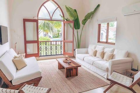 New!! Luxury Tropical Pool Villa - Siolim Door 🌴