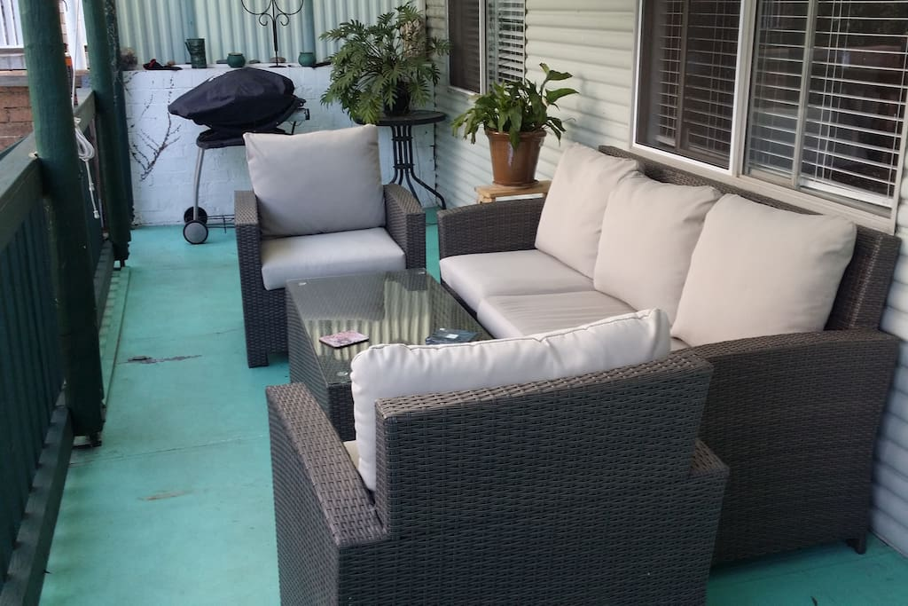 Back porch and entertaining area