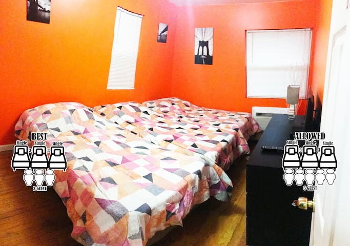 Private Bedroom,25min to TimeSquare,Orange