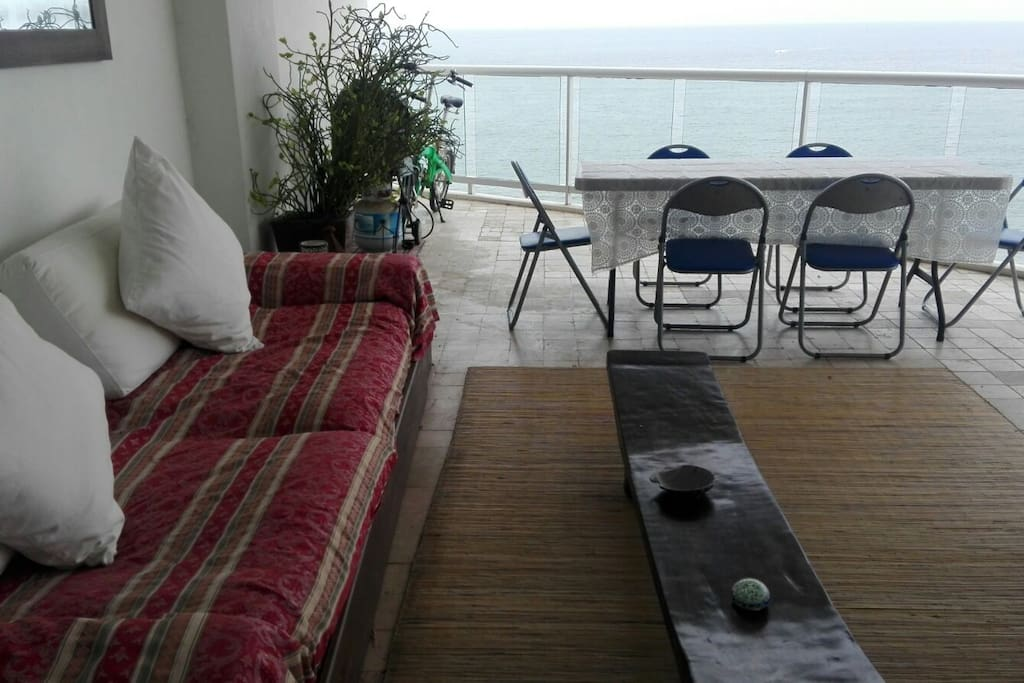 Sofa in the Terrace with ocean view.