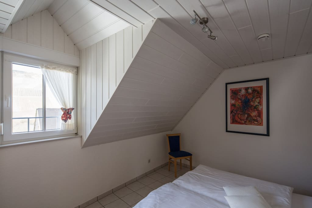 Das Schlafzimmer in der Ferienwohnung