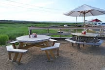 Sit outside overlooking the Merrimack River at Bob Lobster, a popular seafood shack.