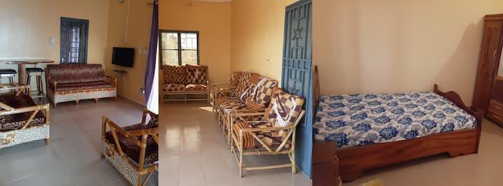 Appart 2 Chambres Salon climatisées avec terrasse