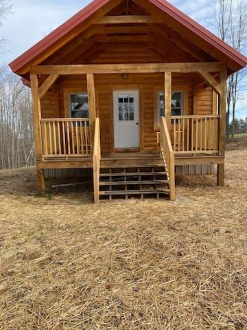 Rolling Hills Farm, newly built cabin.