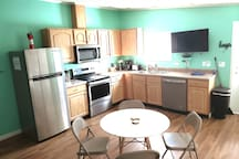 Full kitchen,  all new appliances and TV