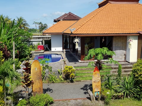 snaffl Beach Villa / pool&kitchen: Doubleroom West