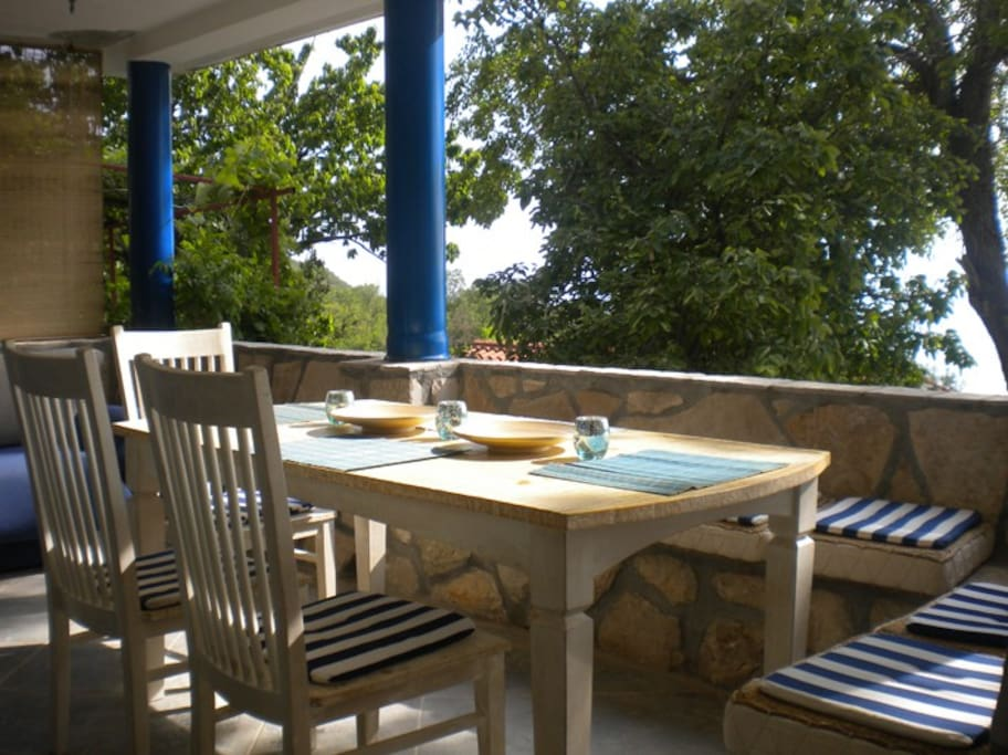 Terrace and dining table