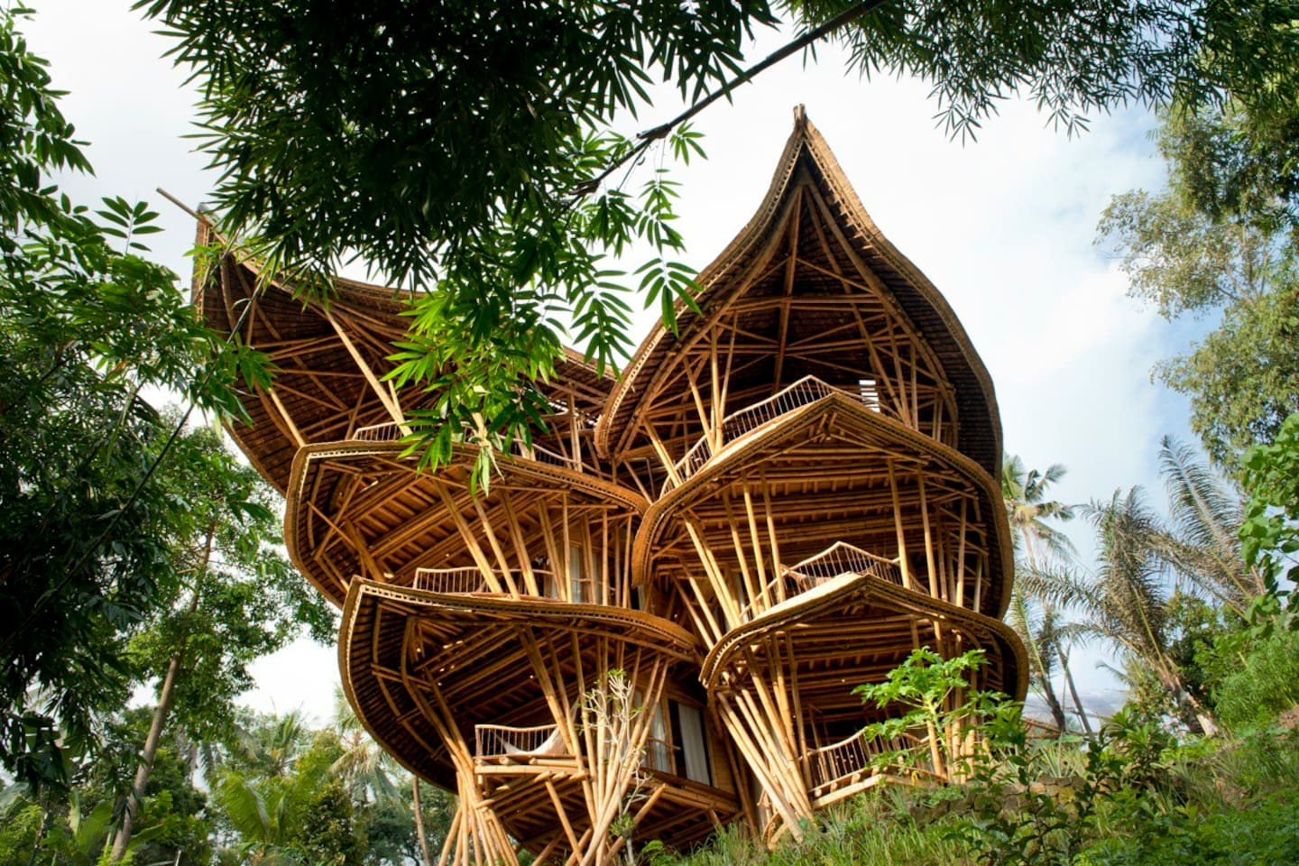 extraordinary 5 floor bamboo palace - houses for rent in