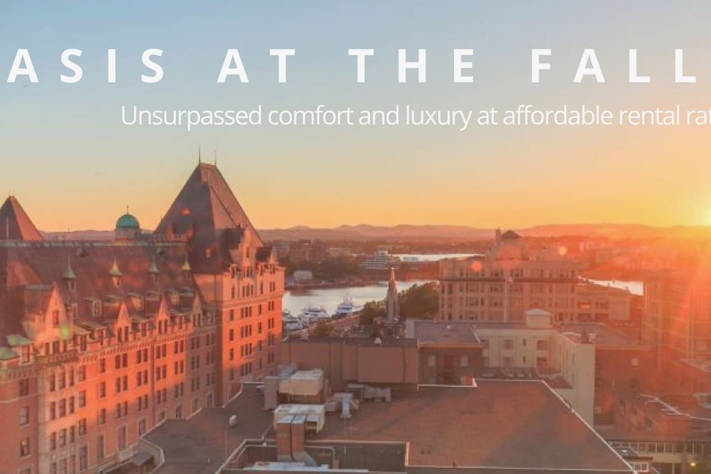 Our beautiful condo: unsurpassed comfort! 'Oasis at the Falls'! Check us out on our website or like us on Facebook! Stunning sunset views from the Falls.