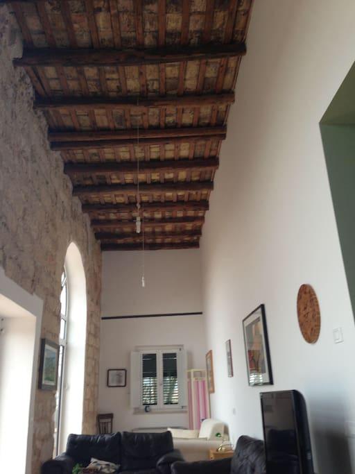 La veranda con vista sul golfo di Palermo