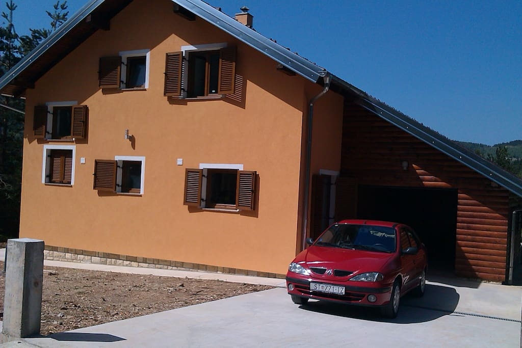 Front of the house with a garage
