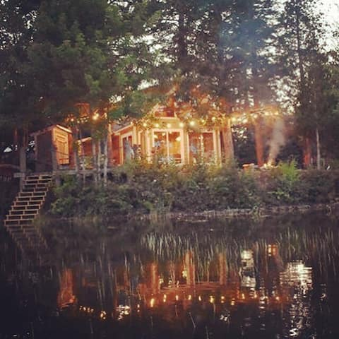 Casa de campo mágica no lago