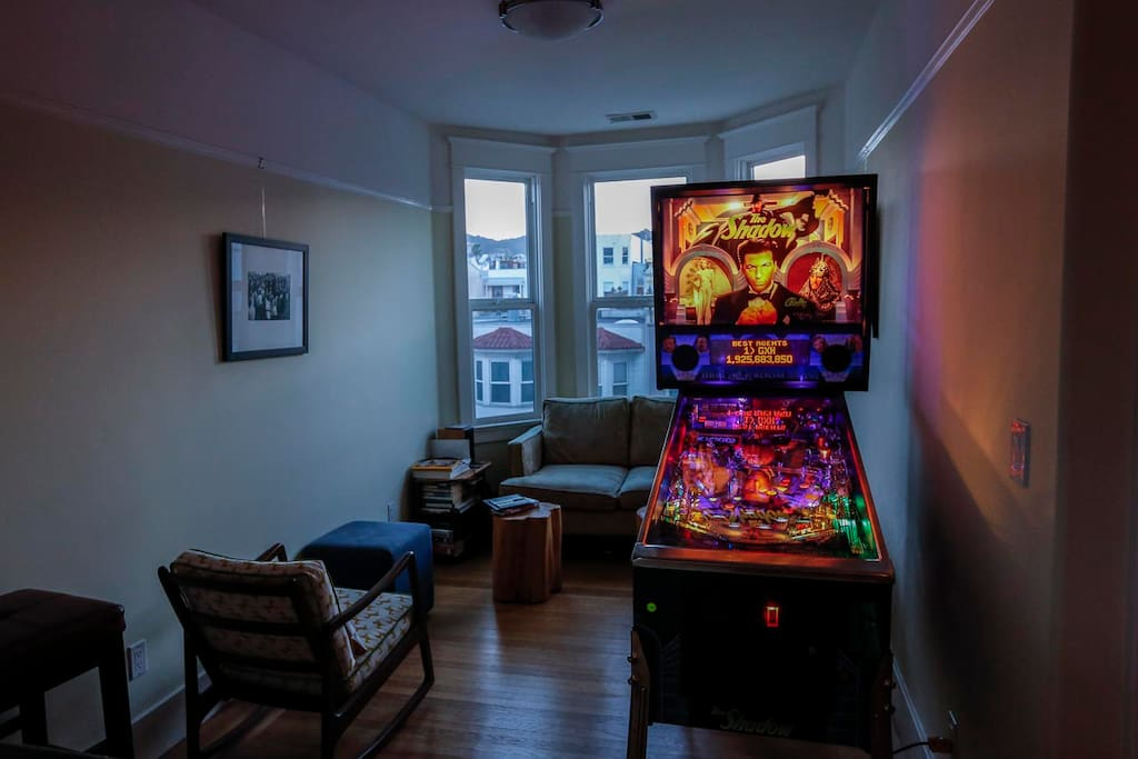 Now with pinball!  The Shadow - on free play!