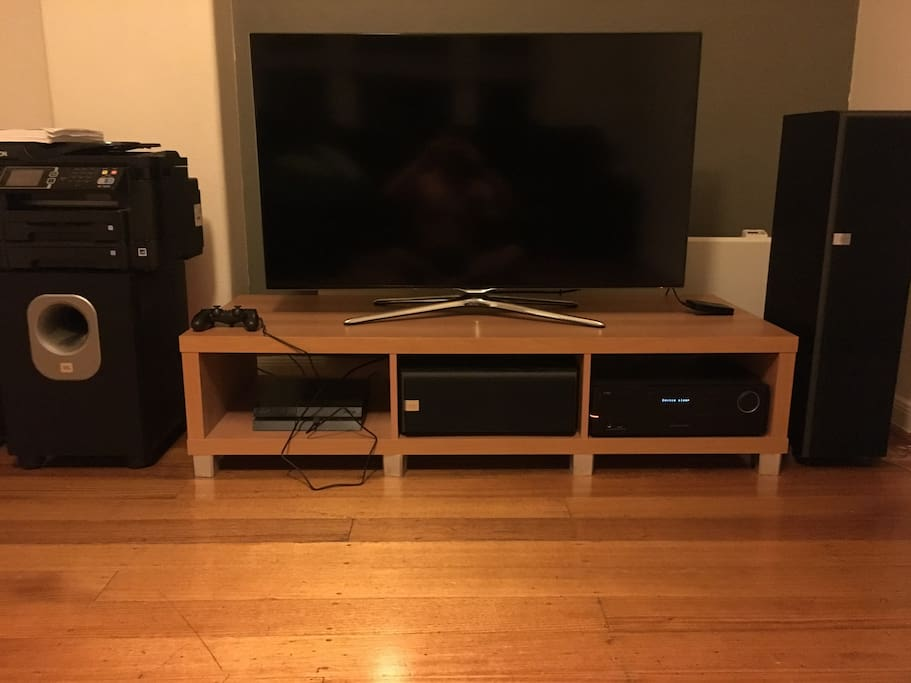 Our home theatre system in our lounge room