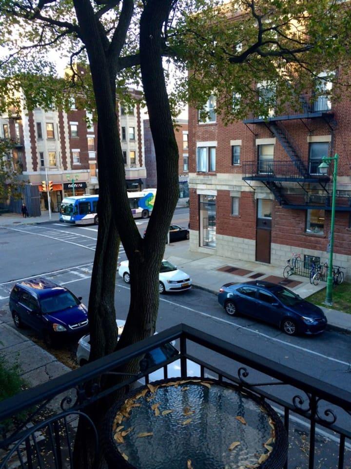 Balcony overlooking Laurier