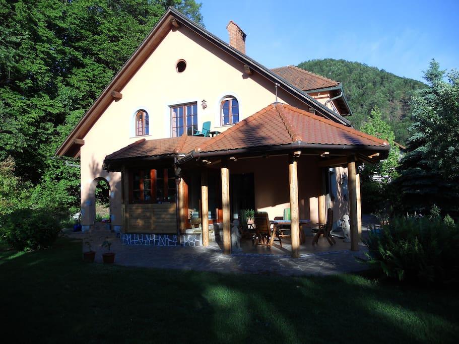 Pavilion near the garden