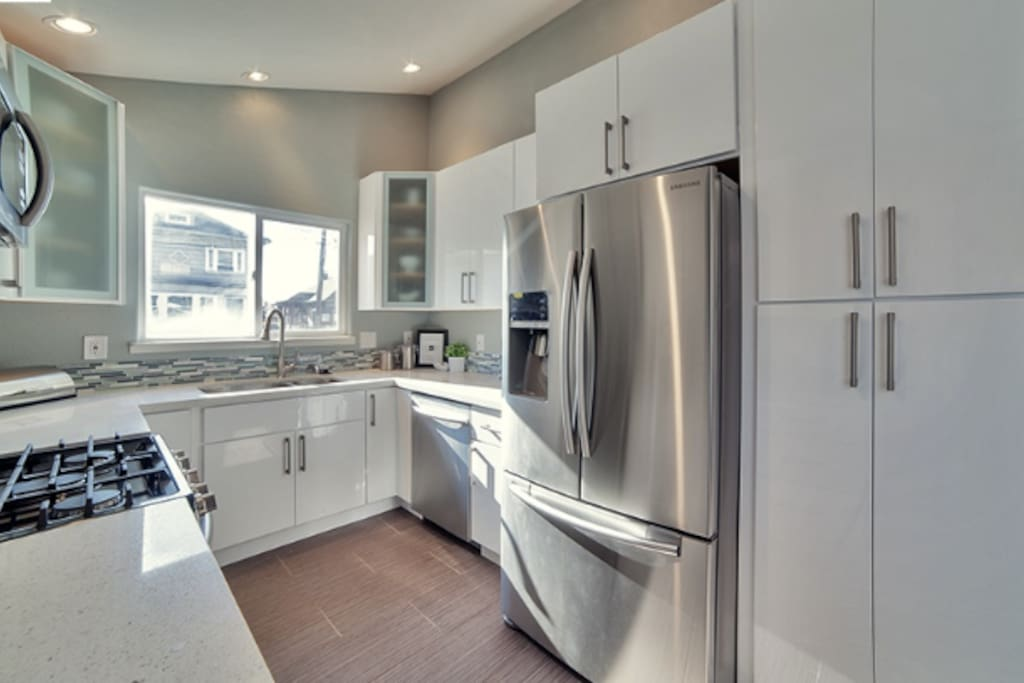 Gourmet kitchen with brand-new appliances