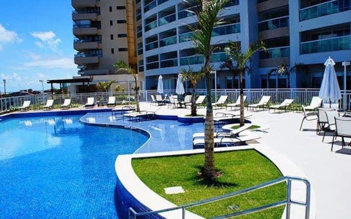 Apartamento com vista para o mar no Rio Vermelho.