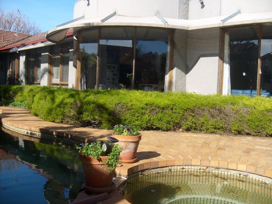 Spar pool rear of house